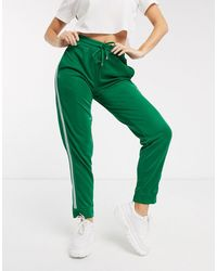 Brave Soul Steff joggers With Side Stripe - Green