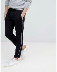 Mango - Man Side Stripe Trousers In Black - Lyst