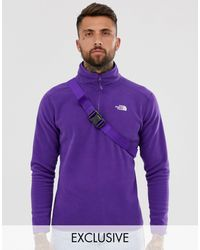 The North Face 100 Glacier 1/4 Zip Fleece - Purple