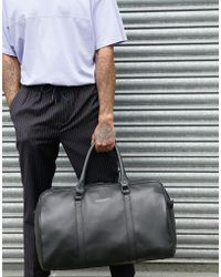 Bolongaro Trevor Bolso de viaje de cuero granulado - Negro