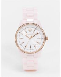 Michael Kors Керамические Наручные Часы Ritz Mk 6838-розовый