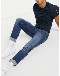 Jack & Jones Intelligence - Glenn - Jean slim ajusté super stretch - moyen - Bleu