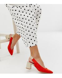 Stradivarius - Zapatos rojos con tira trasera de - Lyst
