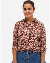 Monki Assa Recycled Floral Print Blouse - Multicolor