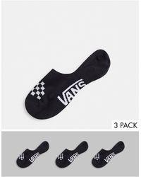 Vans Набор Из 3 Пар Черных Носков Classic Assorted Canoodles-черный Цвет