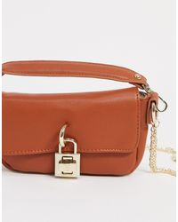 Steve Madden 90s Tan Baguette Bag - Brown
