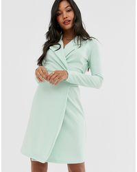 UNIQUE21 - Blazer Dress With Tie Waist - Lyst