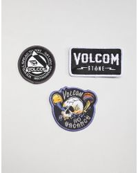 Volcom Assorted Patch Pack In Multi - Black