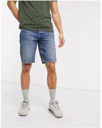 ASOS – Denim-Dad-Shorts - Blau