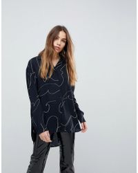 Weekday - Squiggle Print Shirt - Lyst