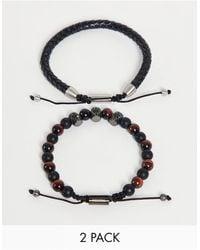 Ben Sherman Lot avec bracelet - Noir