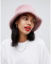 ASOS - Fluffy Bucket Hat - Lyst