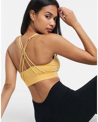 Nike Женский Бюстгальтер С Логотипом -желтый