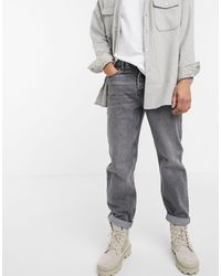 TOPMAN Relaxed Fit Jeans - Grey