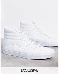 Vans Белые Высокие Кеды Classic Sk8-hi-белый