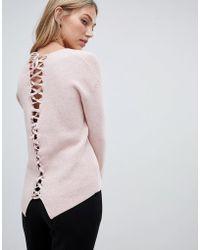 Forever New Lace Up Back Jumper - Pink