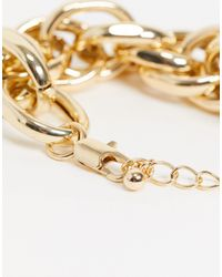 Pieces Chunky Link Bracelet - Metallic