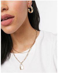 Whistles Textured Hoop Earrings - Metallic