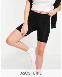 ASOS Pack de 2 leggings cortos negros básicos de ASOS DESIGN Petite