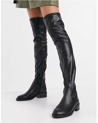 ALDO Araecia Flat Over The Knee Boot - Black