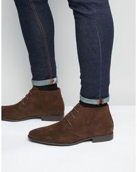 ASOS Imitatiesuède Chukka Boots - Bruin