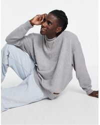 Mennace Co-ord Oversized Knitted Sweater - Gray