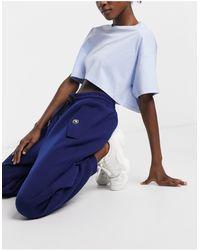 Love Moschino Синие Джоггеры С Логотипом На Пуговицах -черный Цвет - Синий