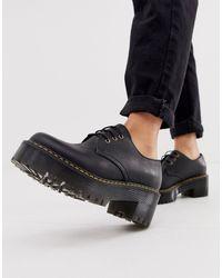 Dr. Martens - Черные Ботинки На Массивной Подошве Со Шнуровкой - Lyst