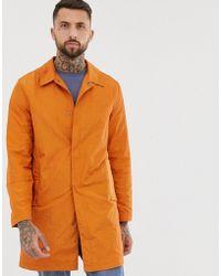 ASOS Lightweight Trench Coat In Burnt Orange