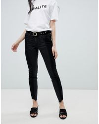 Vila Step Hem Jeans - Black