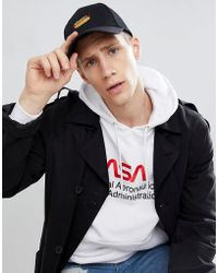 ASOS - Design Baseball Cap In Black With Hot Dog Embroidery - Lyst
