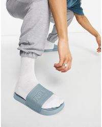 ASOS Asos Unrvlled Supply Knitted Sliders - Blue