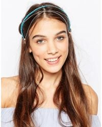 Kat&bee - Kat & George Hair Crown With Heart Beads And Chain - Lyst
