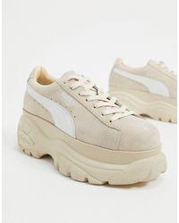 PUMA X Buffalo - Suède Klassieke Sneakers - Wit