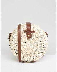ASOS Design Structured Straw Circle Bag - Multicolour