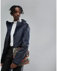 Oakley Highline Bzs Ski Jacket 10k Waterproof Regular Fit In Warning Camo - Blue
