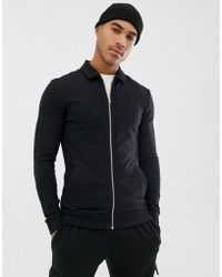 b5ee95900 American Apparel Bomber Jacket In Houndstooth in Black for Men - Lyst