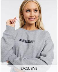 Napapijri Box Cropped Sweatshirt - Grey