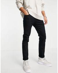 TOPMAN Organic Cotton Stretch Slim Jeans - Black