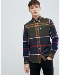 Barbour Dunoon Slim Fit Exploded Check Shirt In Classic Tartan - Green