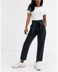 & Other Stories Tie Detail High-waist Jeans - Black