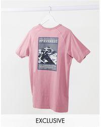 The North Face Camiseta rosa Faces exclusiva en ASOS de