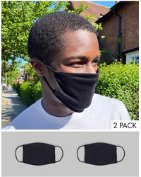 ASOS 2-pack Face Masks - Black