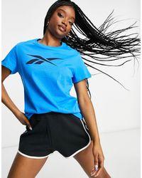 Reebok Te Graphic Vector Tshirt - Blue