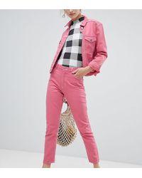 Monki Kimomo Jeans In Pink Co-ord