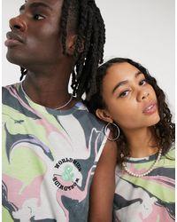 ASOS - X glaad& – Legeres, ärmelloses Unisex-Shirt mit tiefen Armausschnitten und abstraktem Muster, Kombiteil - Lyst