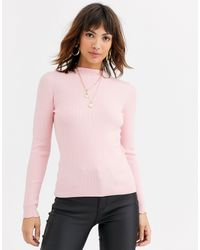 Warehouse Jumper With Funnel Neck - Pink