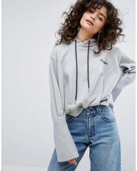 EVIDNT Two In One Hoody Top - Gray