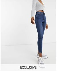 Tommy Hilfiger Skinny Jeans Met Hoge Taille - Blauw