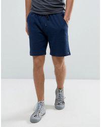 Farah Tarrant Sweat Shorts Drawstring In Navy Marl - Blue